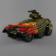 Bilim kurgu zırhlı araba 3d model