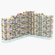 High rise multicolored building 3d model