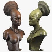 Busto di donna africana 3d model