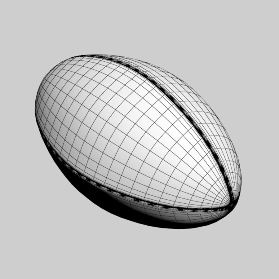 Futbol amerykański royalty-free 3d model - Preview no. 8