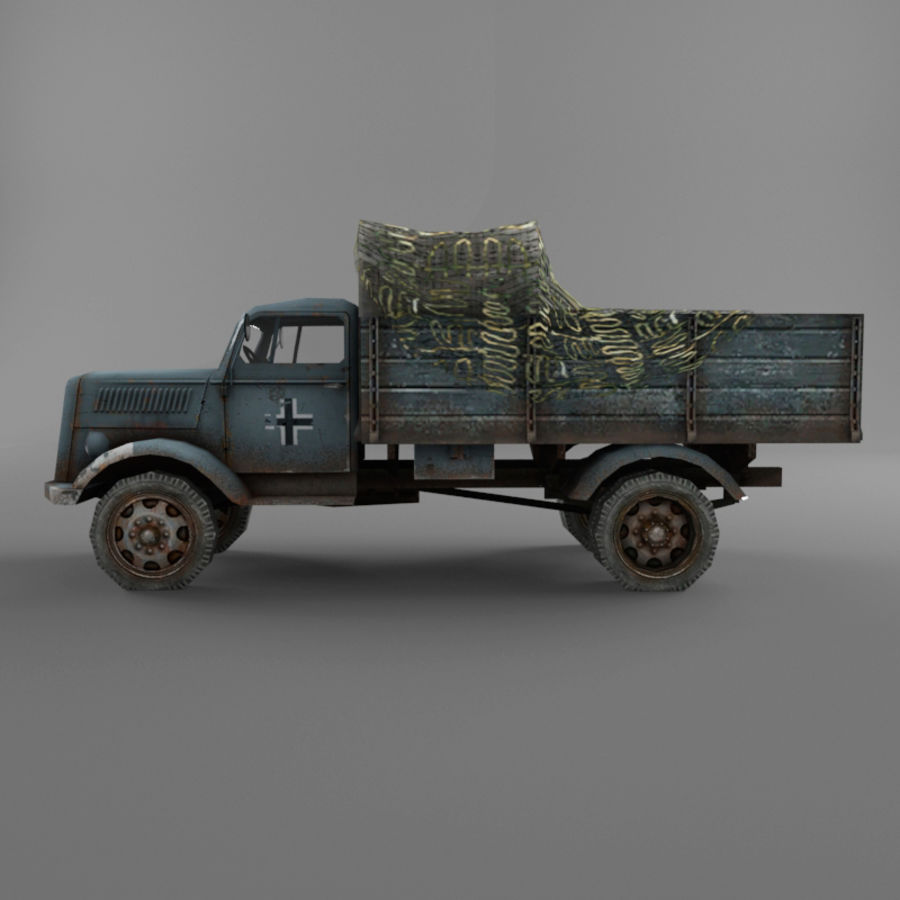 Opel Blitz royalty-free 3d model - Preview no. 22