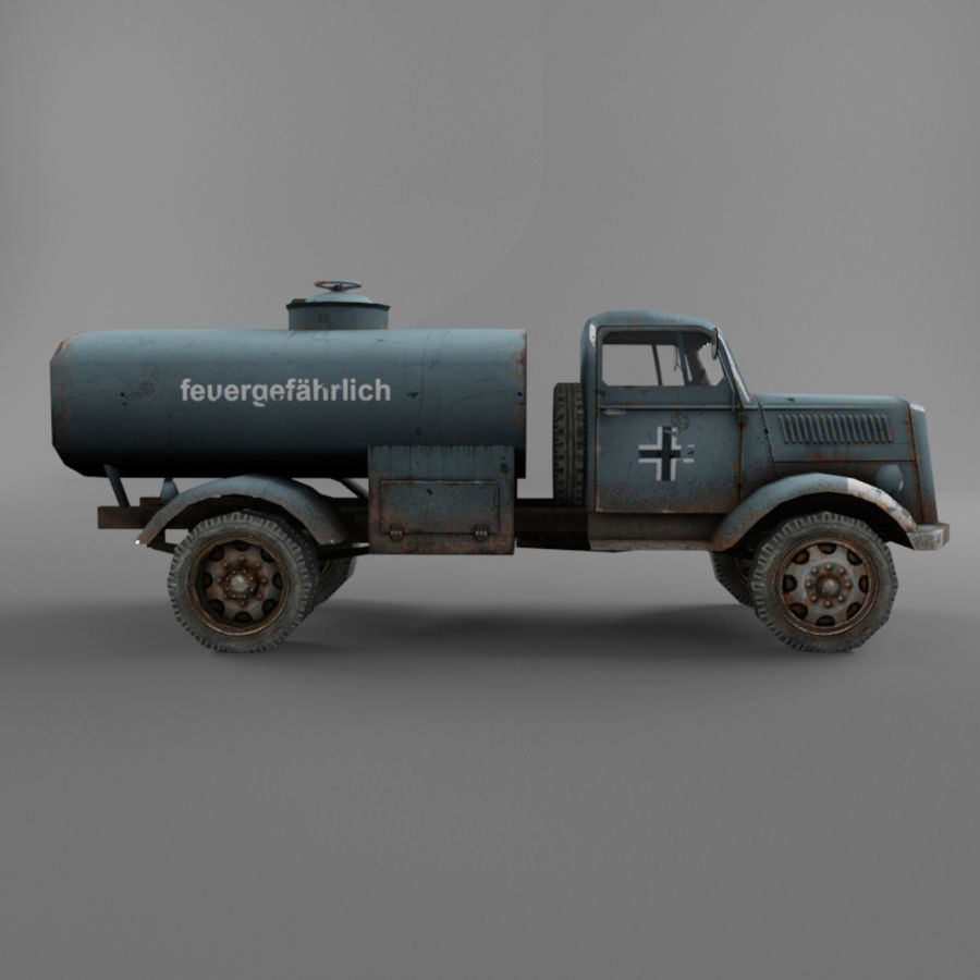 Opel Blitz royalty-free 3d model - Preview no. 16