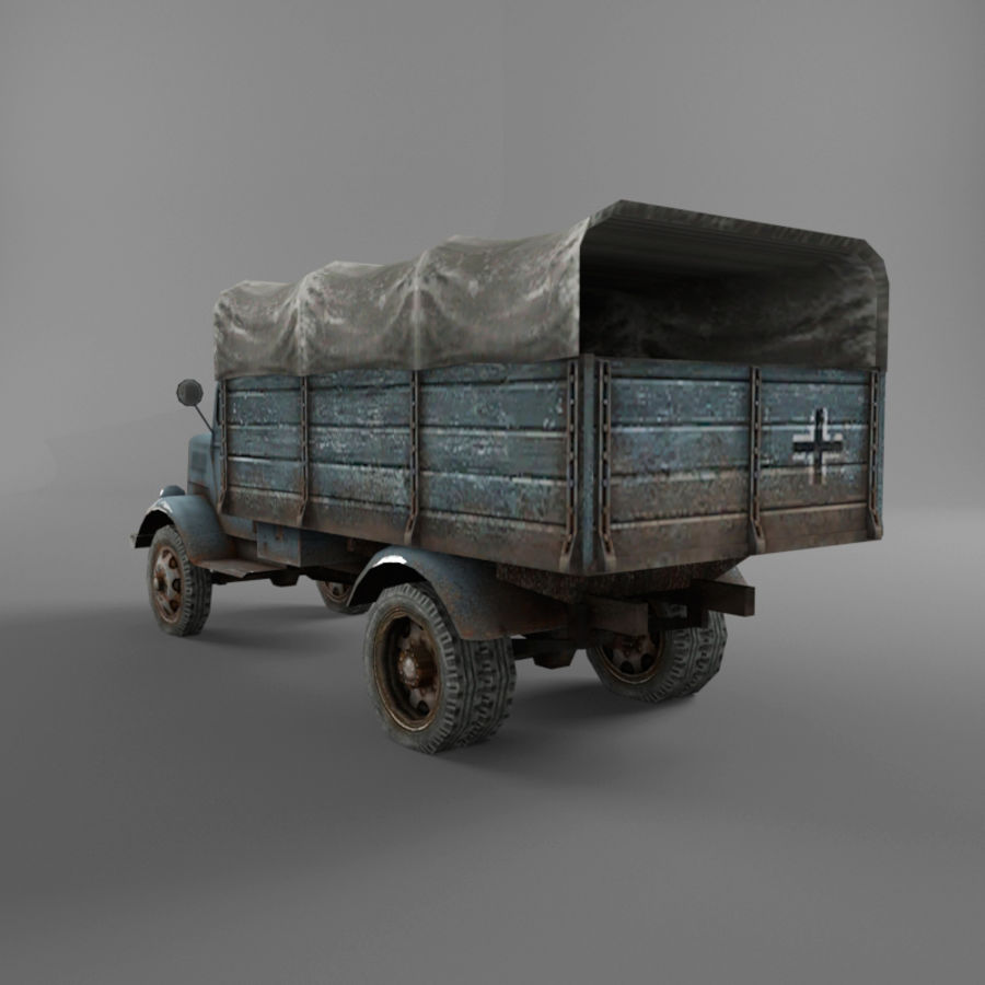 Opel Blitz royalty-free 3d model - Preview no. 33