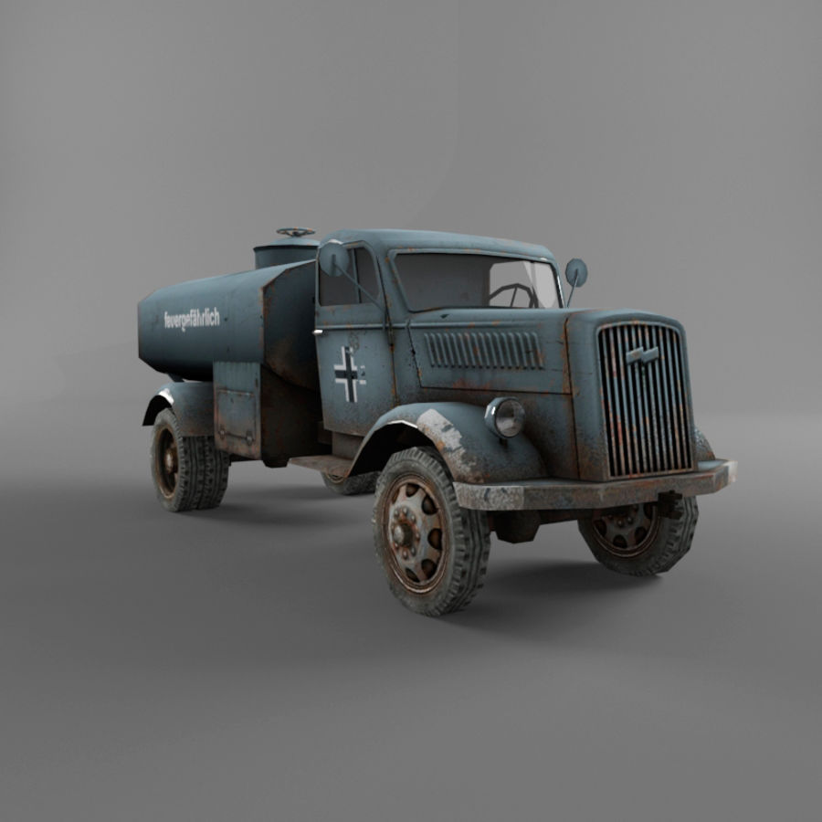 Opel Blitz royalty-free 3d model - Preview no. 17