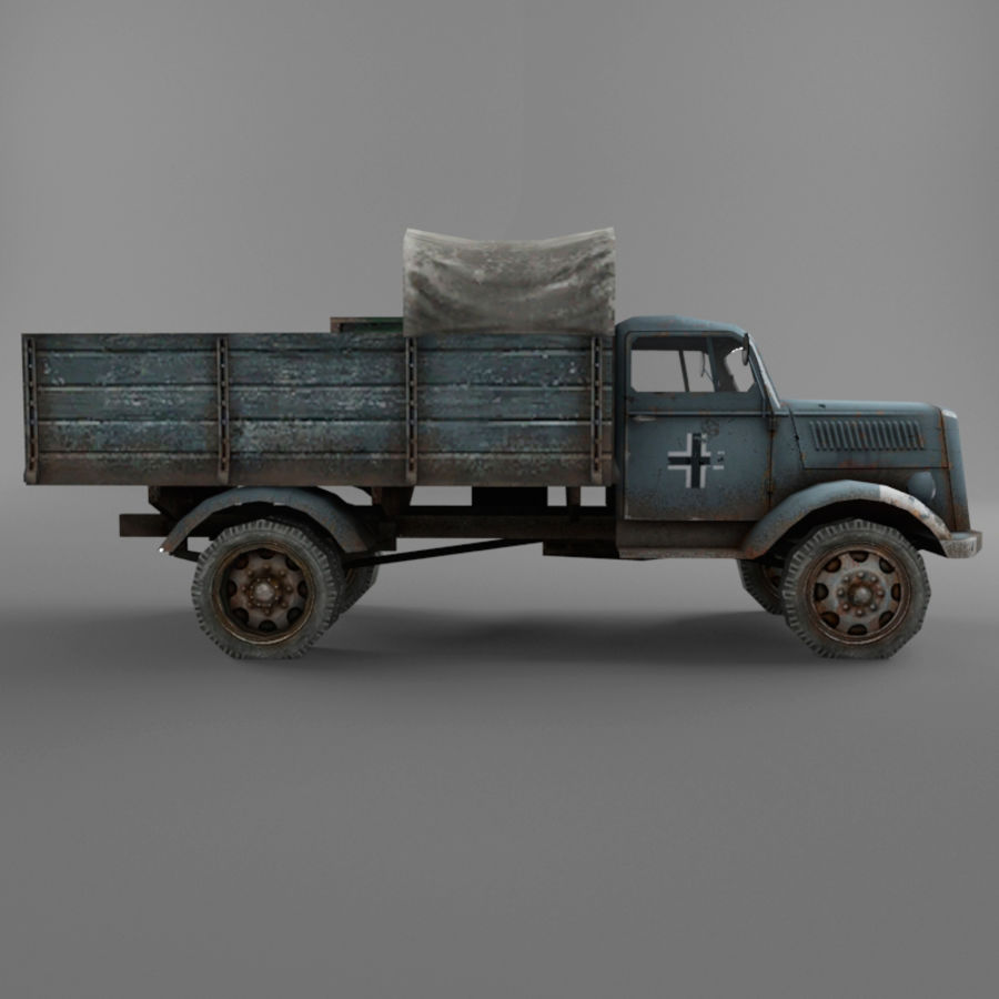 Opel Blitz royalty-free 3d model - Preview no. 25