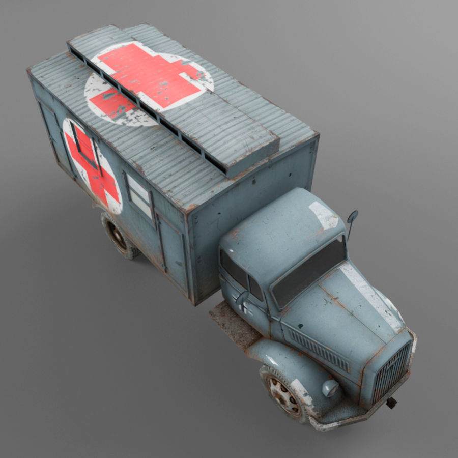 Opel Blitz royalty-free 3d model - Preview no. 9