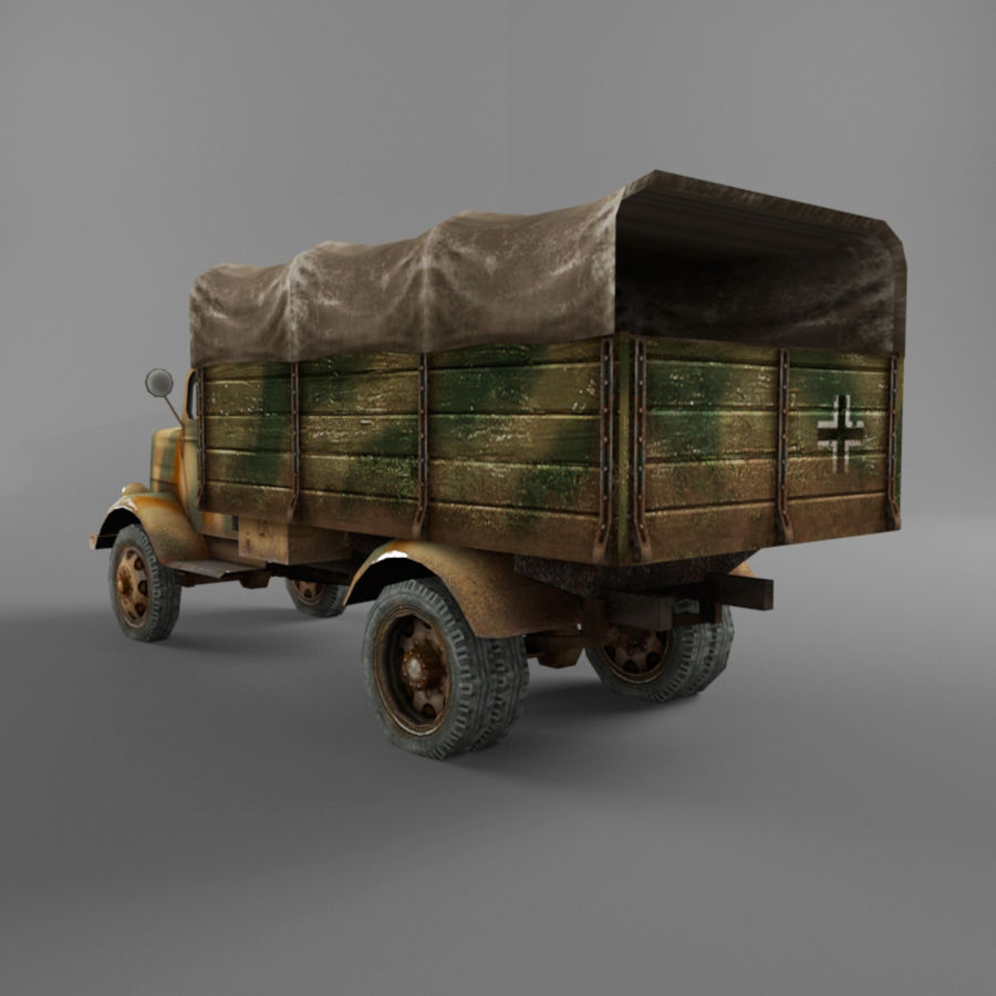 Opel Blitz royalty-free 3d model - Preview no. 40