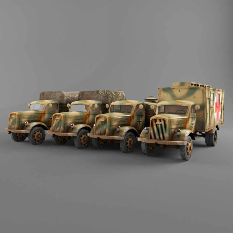 Opel Blitz royalty-free 3d model - Preview no. 2