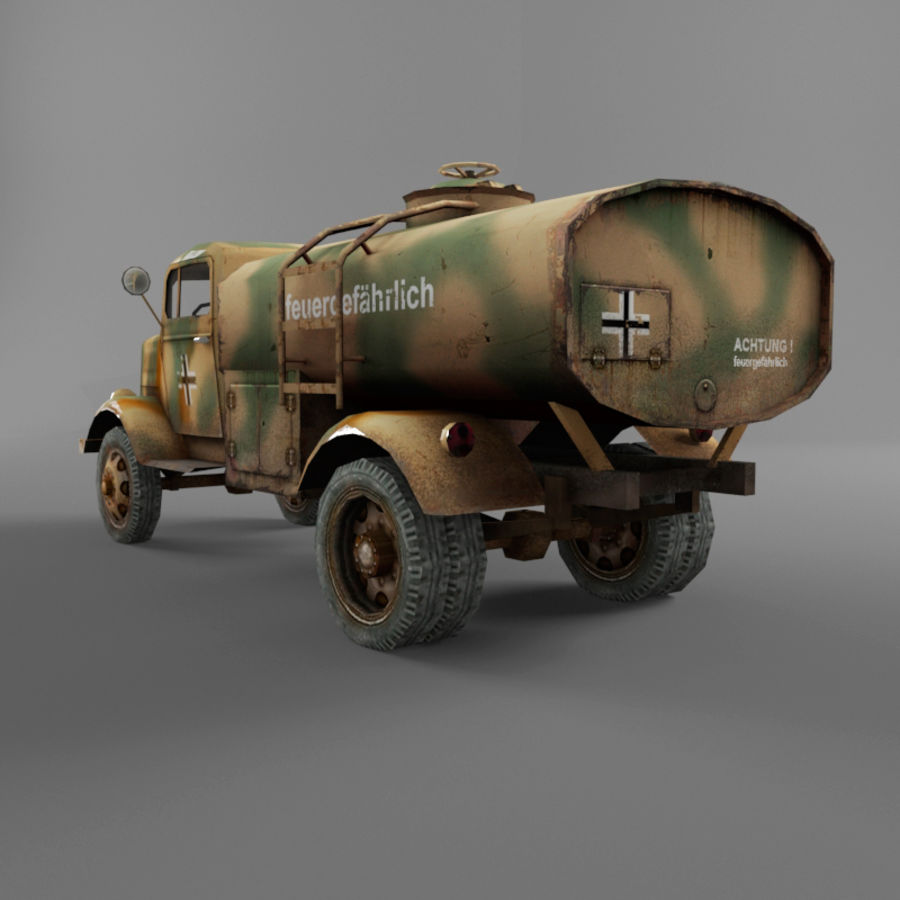 Opel Blitz royalty-free 3d model - Preview no. 20