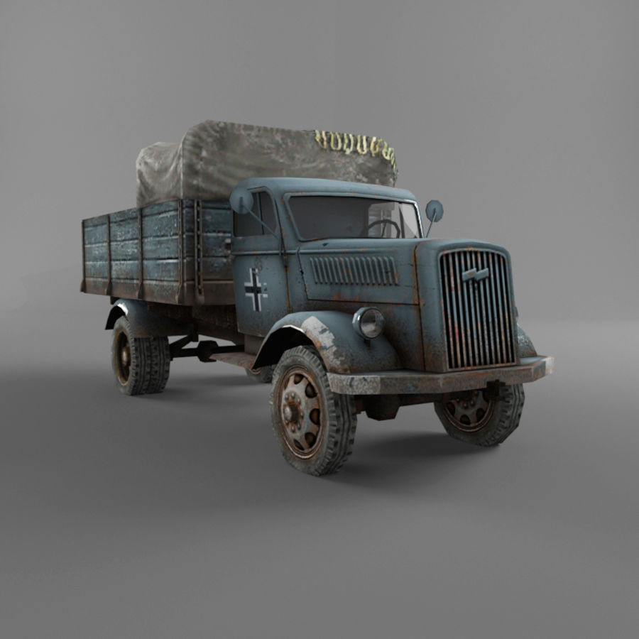 Opel Blitz royalty-free 3d model - Preview no. 26