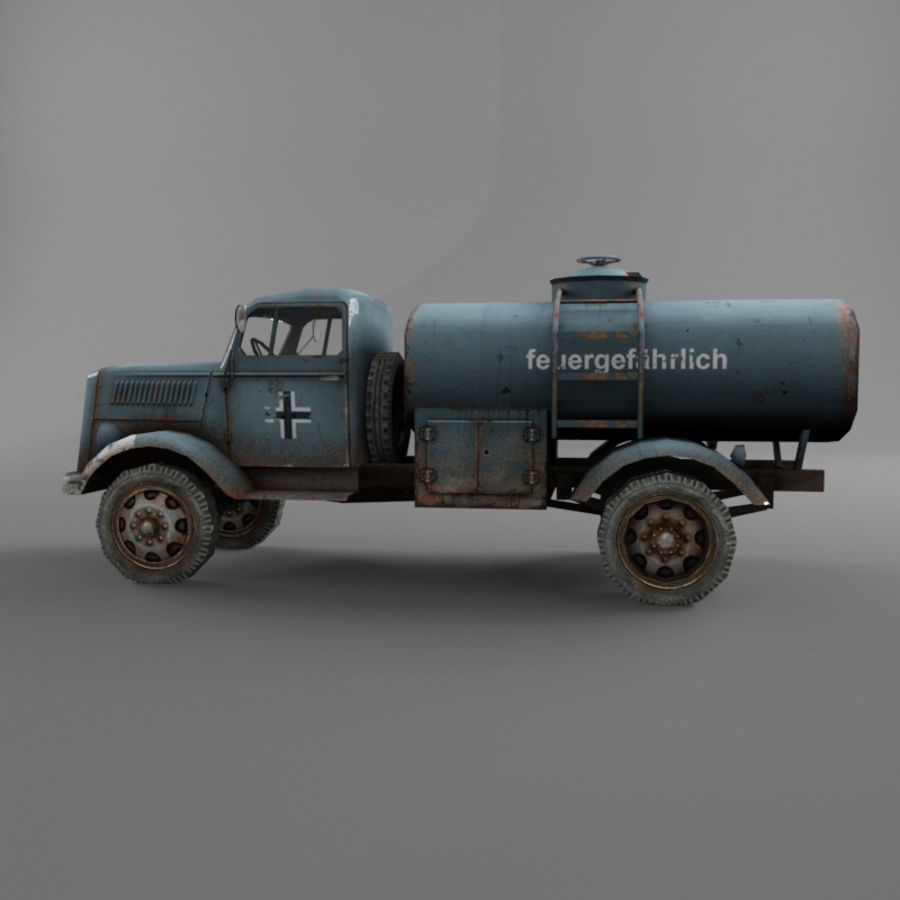 Opel Blitz royalty-free 3d model - Preview no. 13