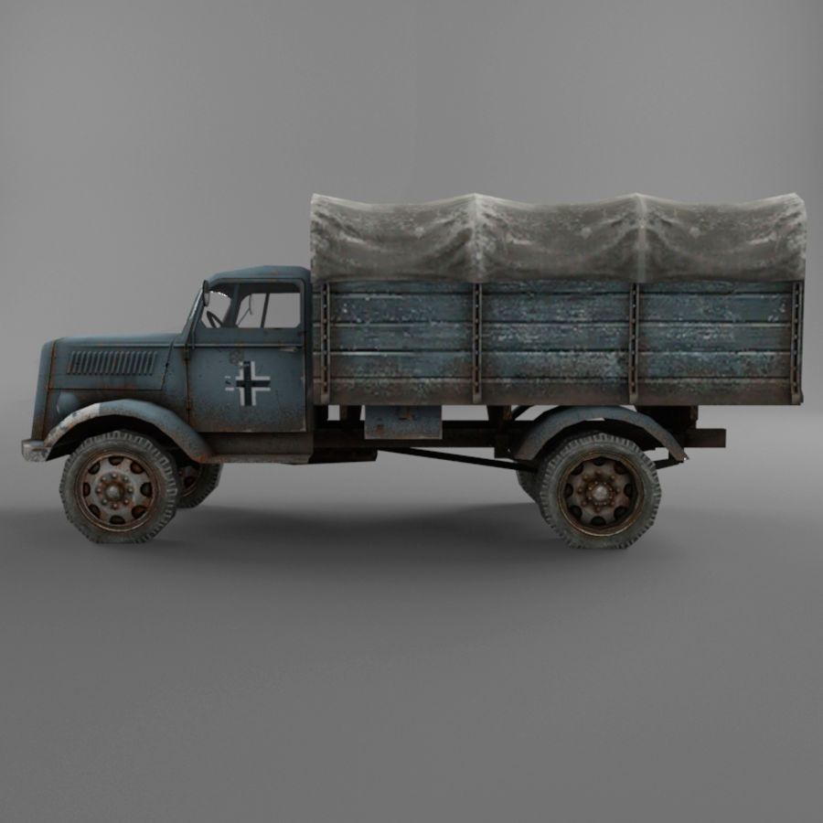 Opel Blitz royalty-free 3d model - Preview no. 32