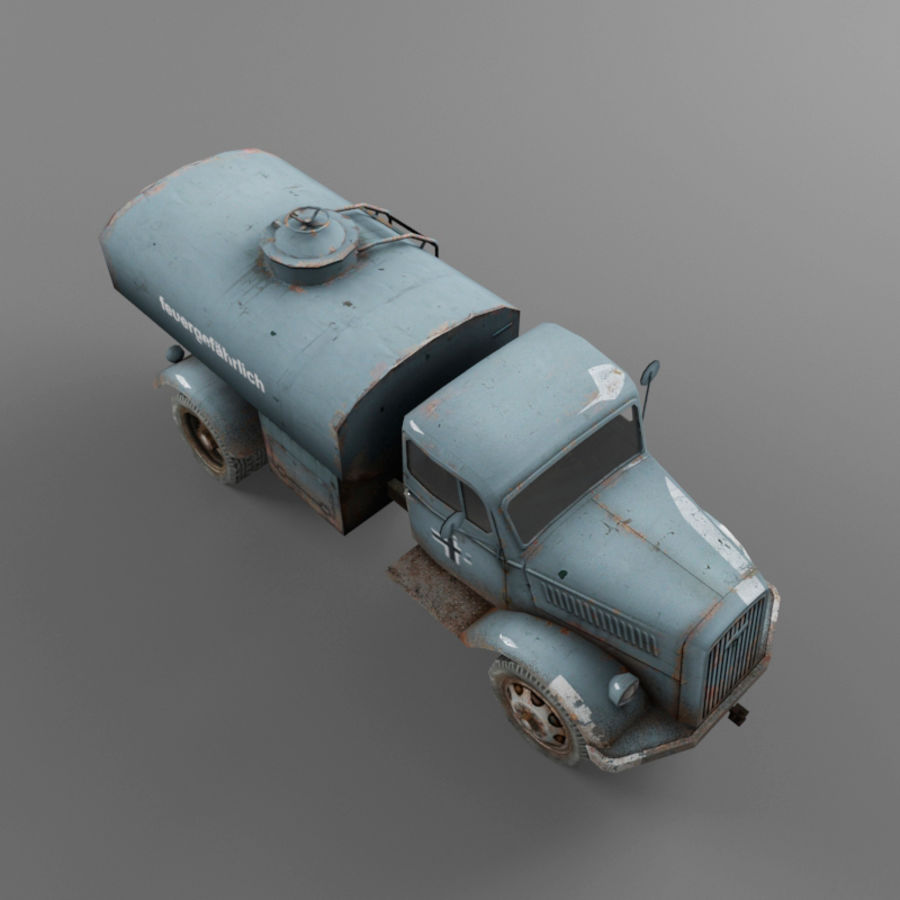 Opel Blitz royalty-free 3d model - Preview no. 18