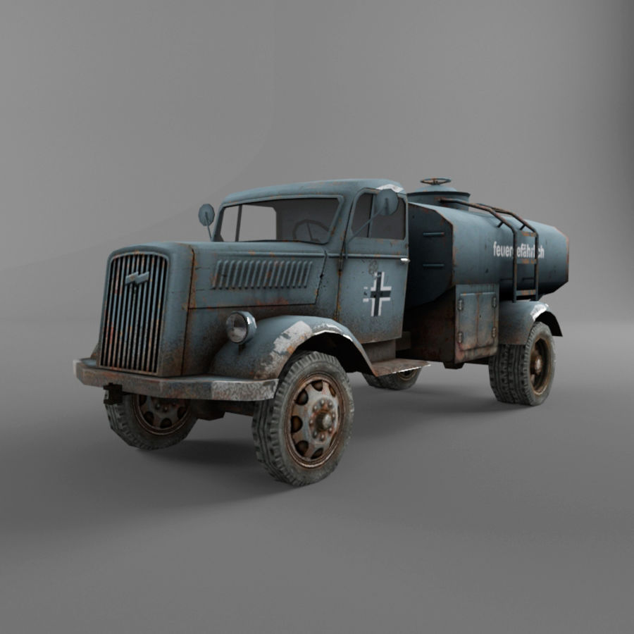 Opel Blitz royalty-free 3d model - Preview no. 12