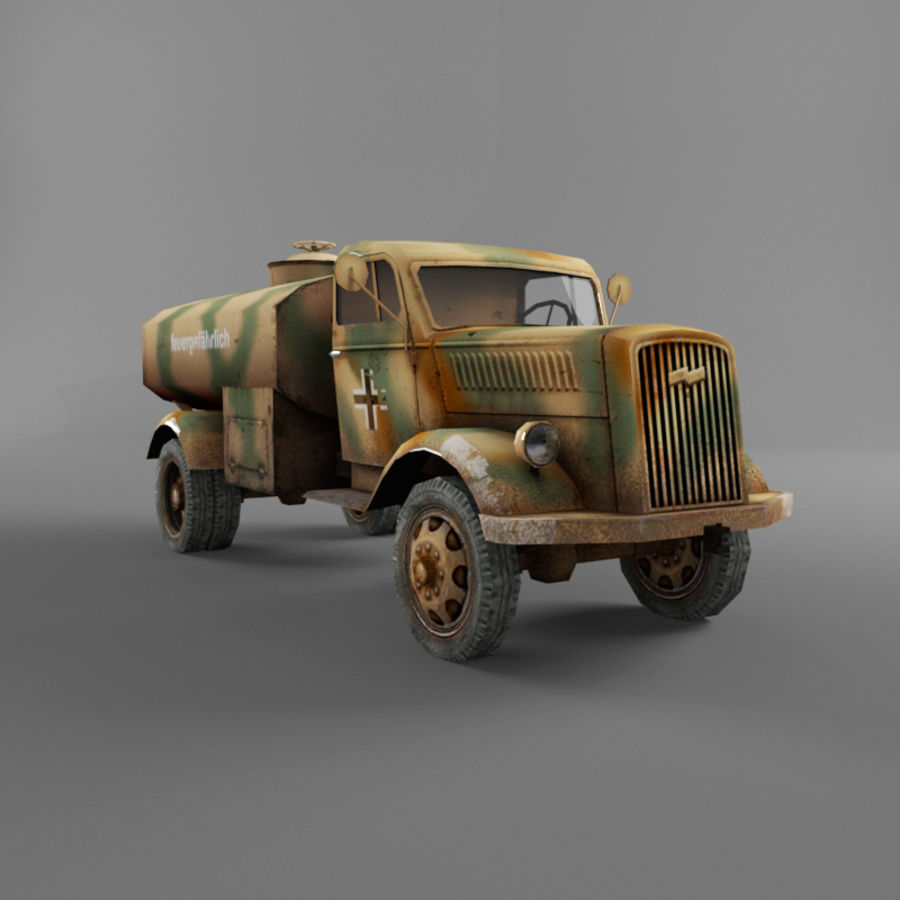 Opel Blitz royalty-free 3d model - Preview no. 19