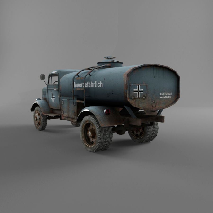 Opel Blitz royalty-free 3d model - Preview no. 14