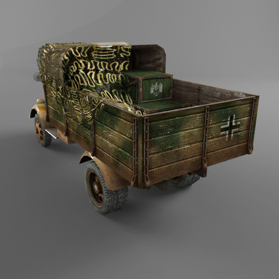 Opel Blitz royalty-free 3d model - Preview no. 30