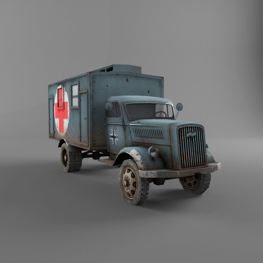Opel Blitz royalty-free 3d model - Preview no. 8