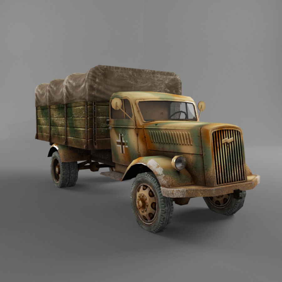 Opel Blitz royalty-free 3d model - Preview no. 39