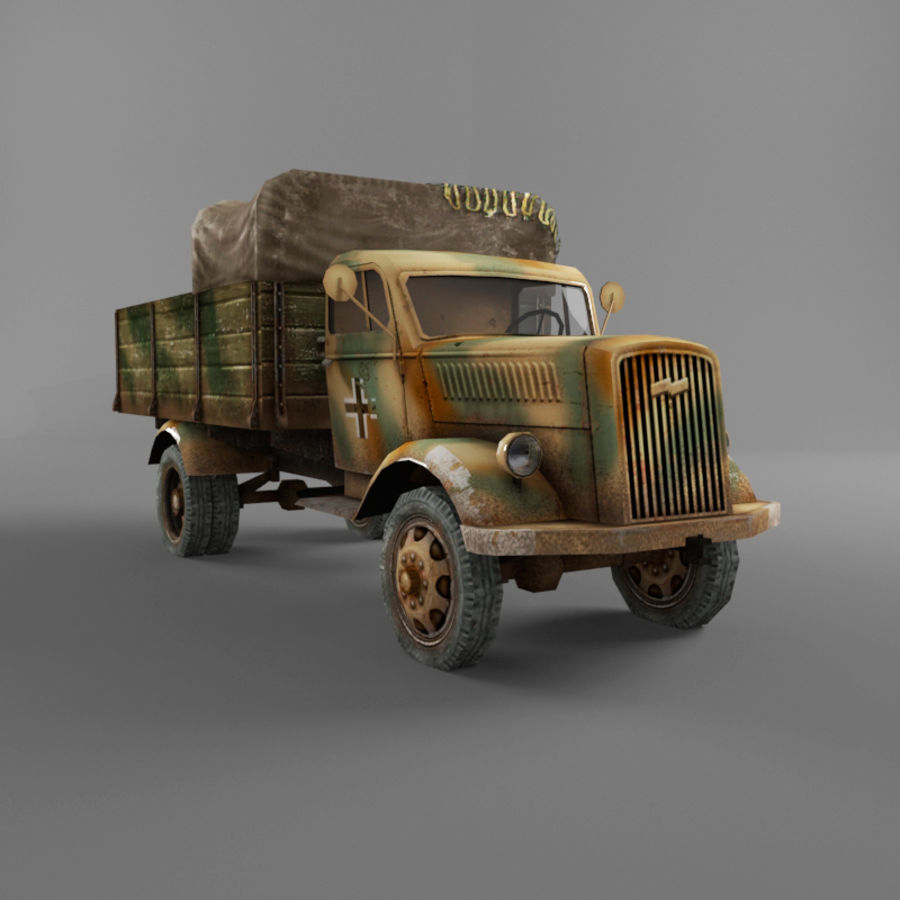 Opel Blitz royalty-free 3d model - Preview no. 29