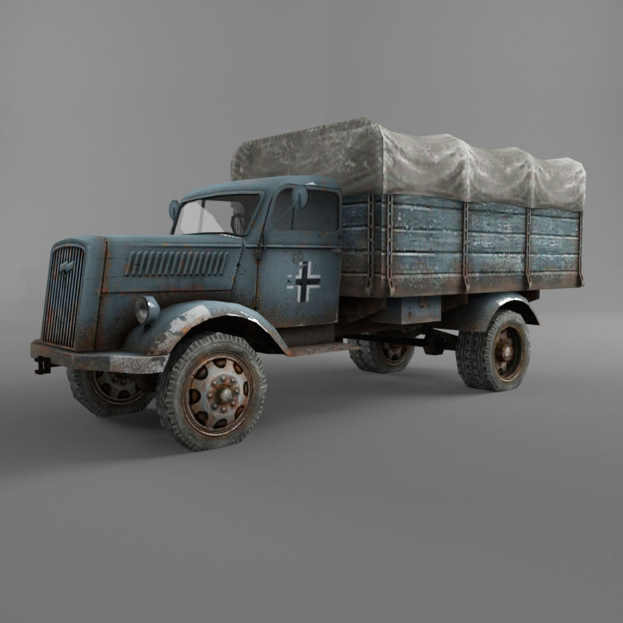 Opel Blitz royalty-free 3d model - Preview no. 31