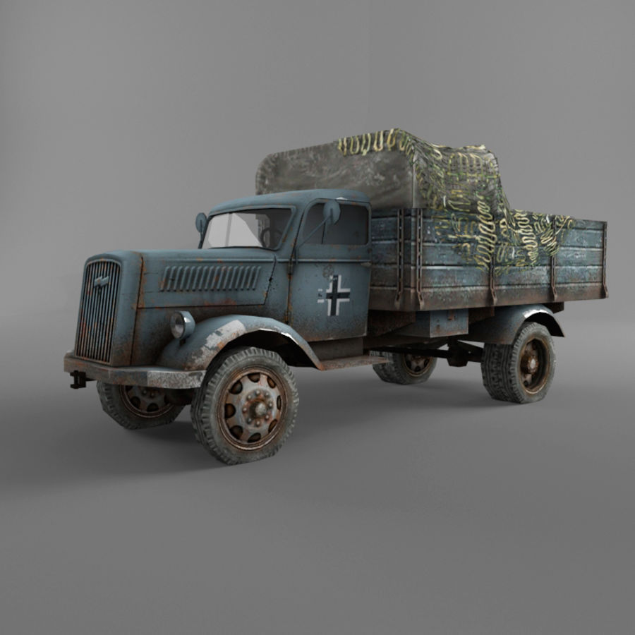 Opel Blitz royalty-free 3d model - Preview no. 21