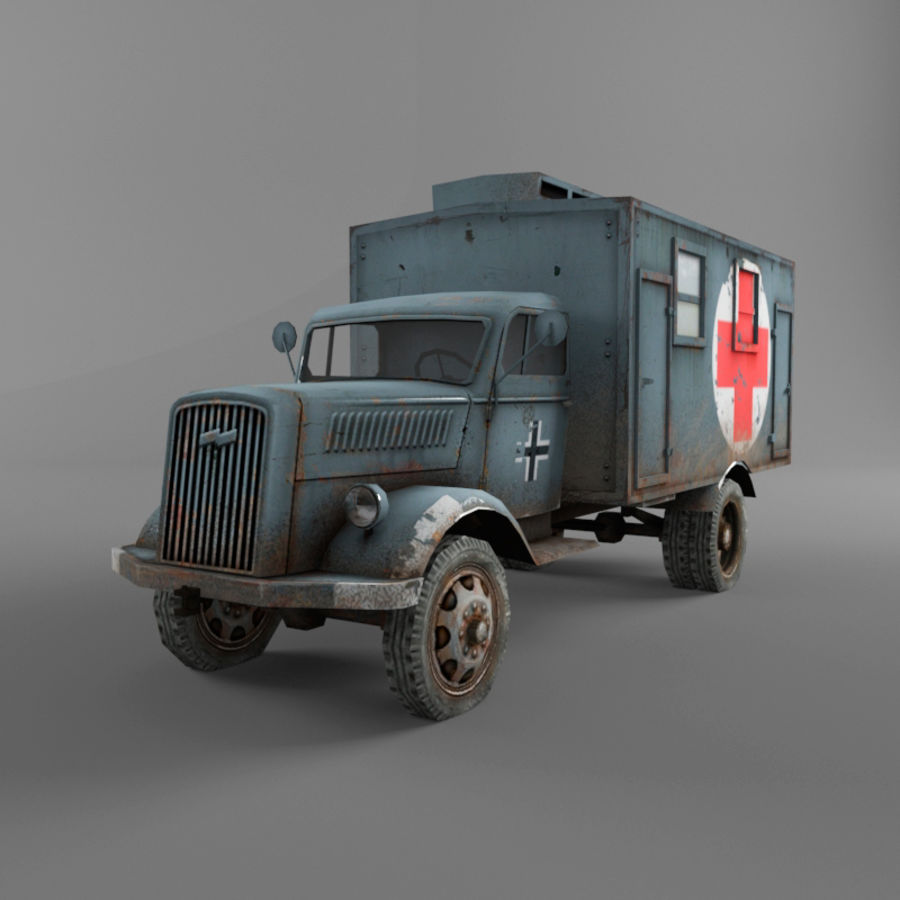 Opel Blitz royalty-free 3d model - Preview no. 3