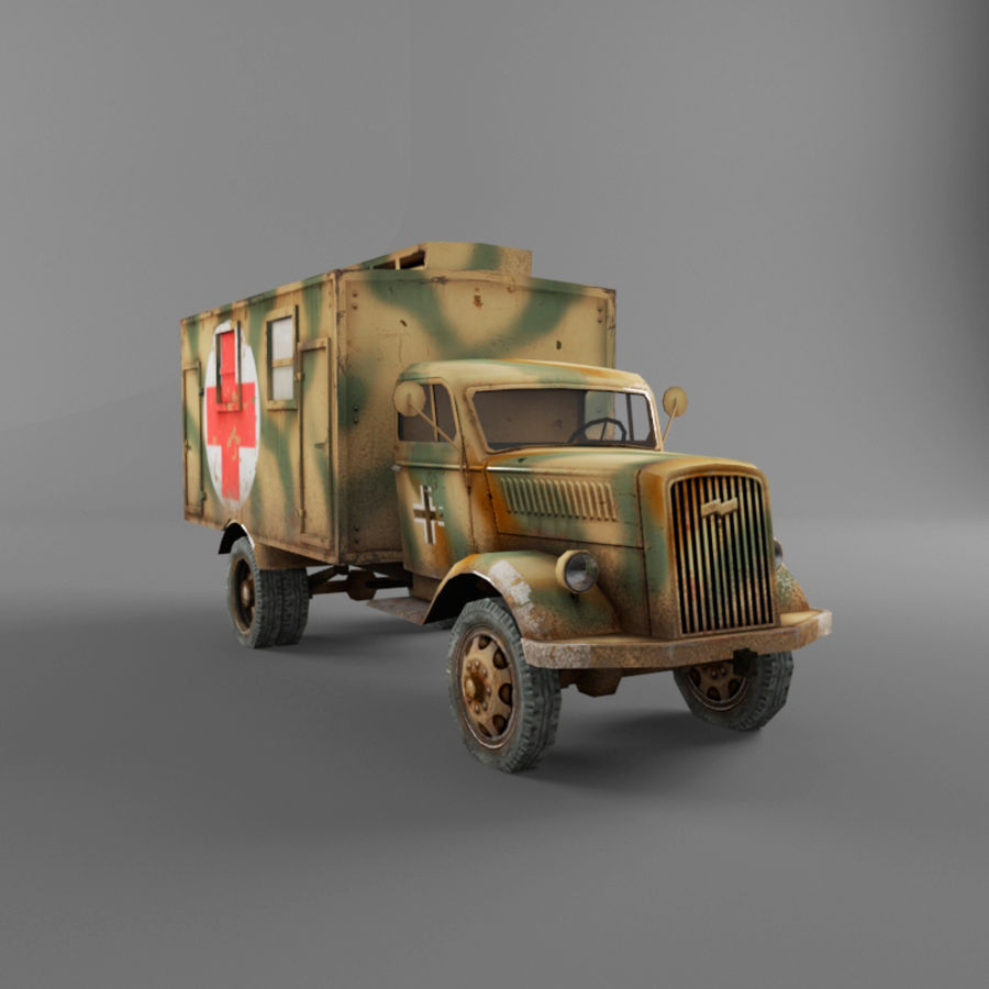 Opel Blitz royalty-free 3d model - Preview no. 10