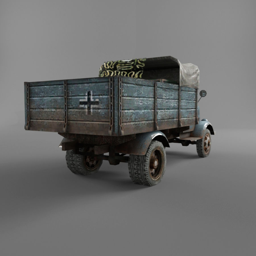 Opel Blitz royalty-free 3d model - Preview no. 24