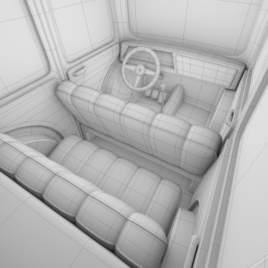 Kreskówka samochód policyjny royalty-free 3d model - Preview no. 10