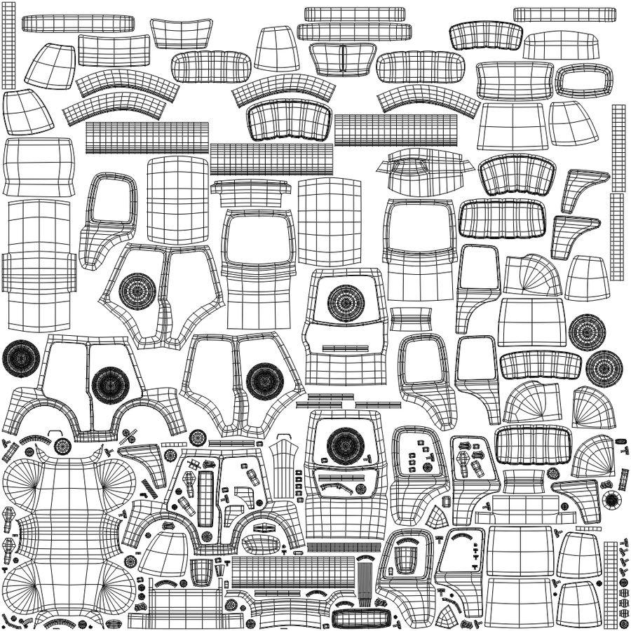 Kreskówka samochód policyjny royalty-free 3d model - Preview no. 11
