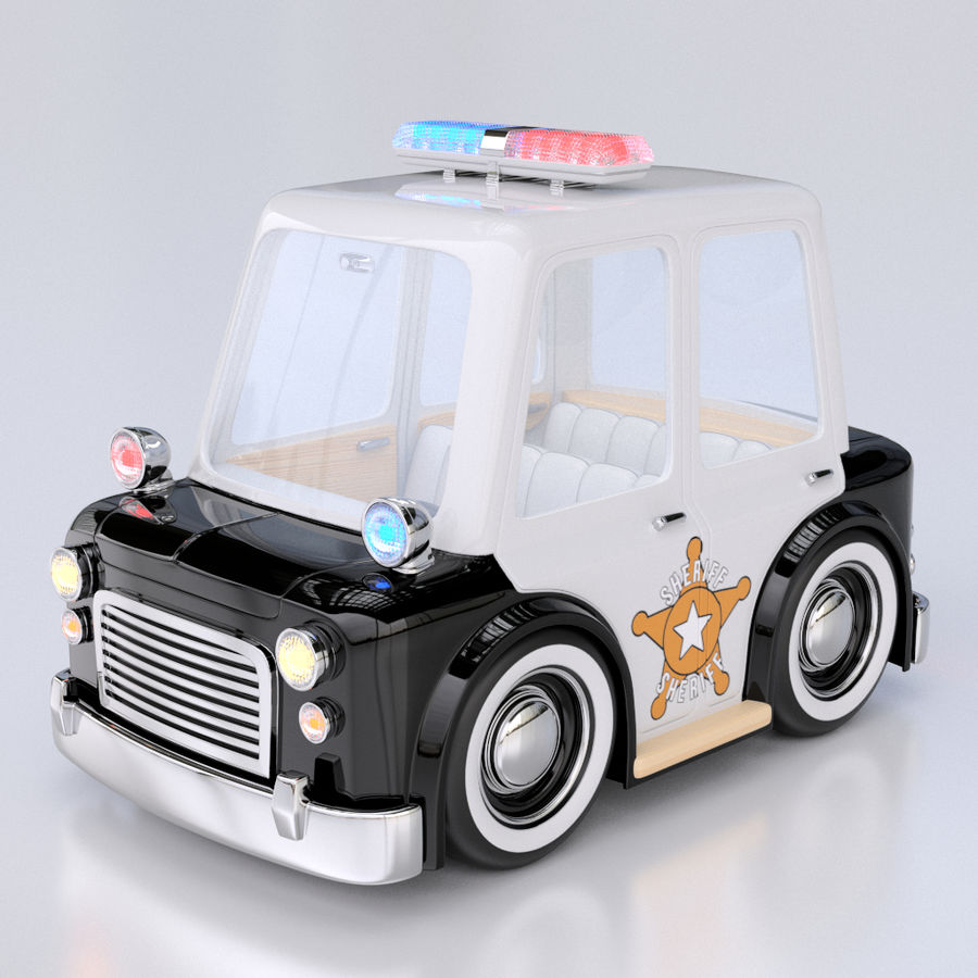 Cartoon Police Car 3d Model 39 Unknown Ma Fbx Obj Free3d