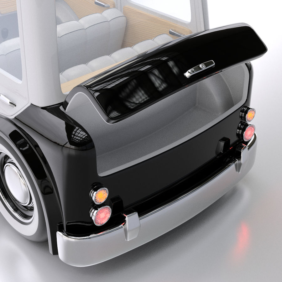 Kreskówka samochód policyjny royalty-free 3d model - Preview no. 7