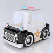 Kreskówka samochód policyjny 3d model