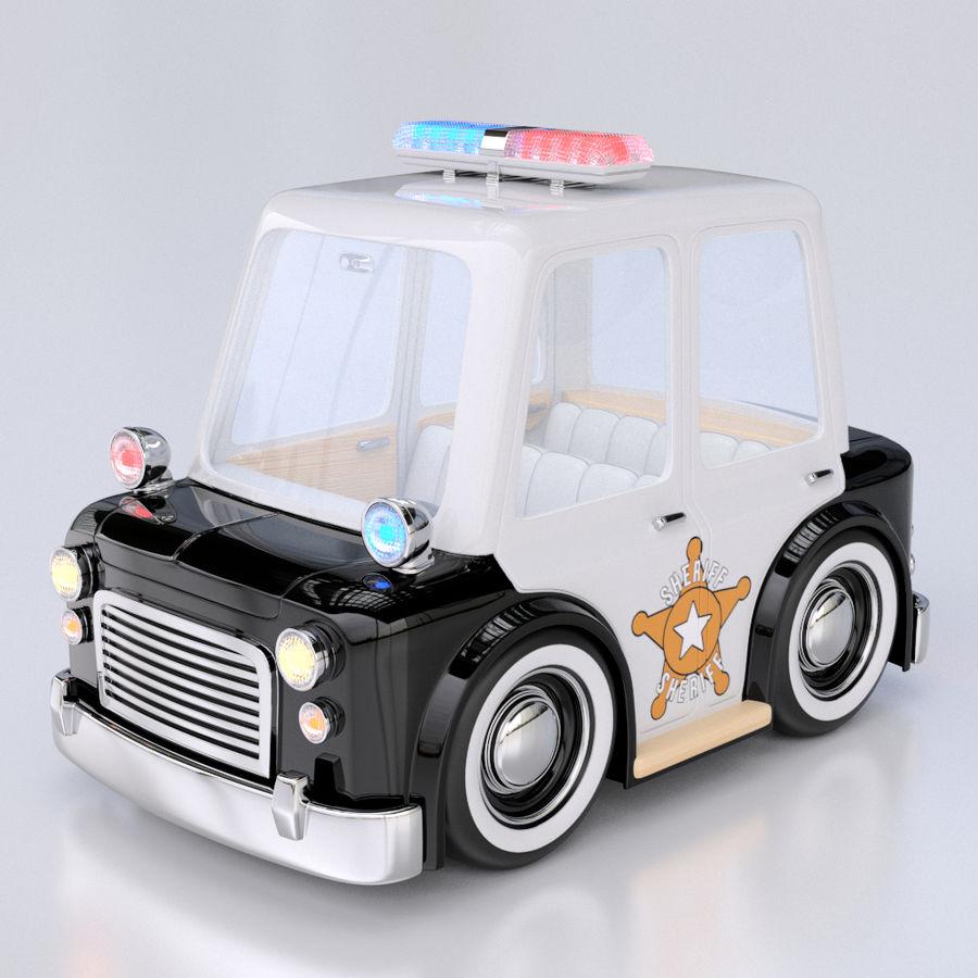 Kreskówka samochód policyjny royalty-free 3d model - Preview no. 1