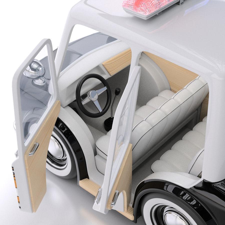 Kreskówka samochód policyjny royalty-free 3d model - Preview no. 5