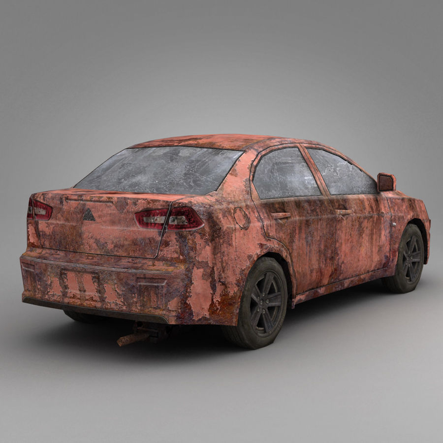 Rusty Car 2 royalty-free 3d model - Preview no. 4