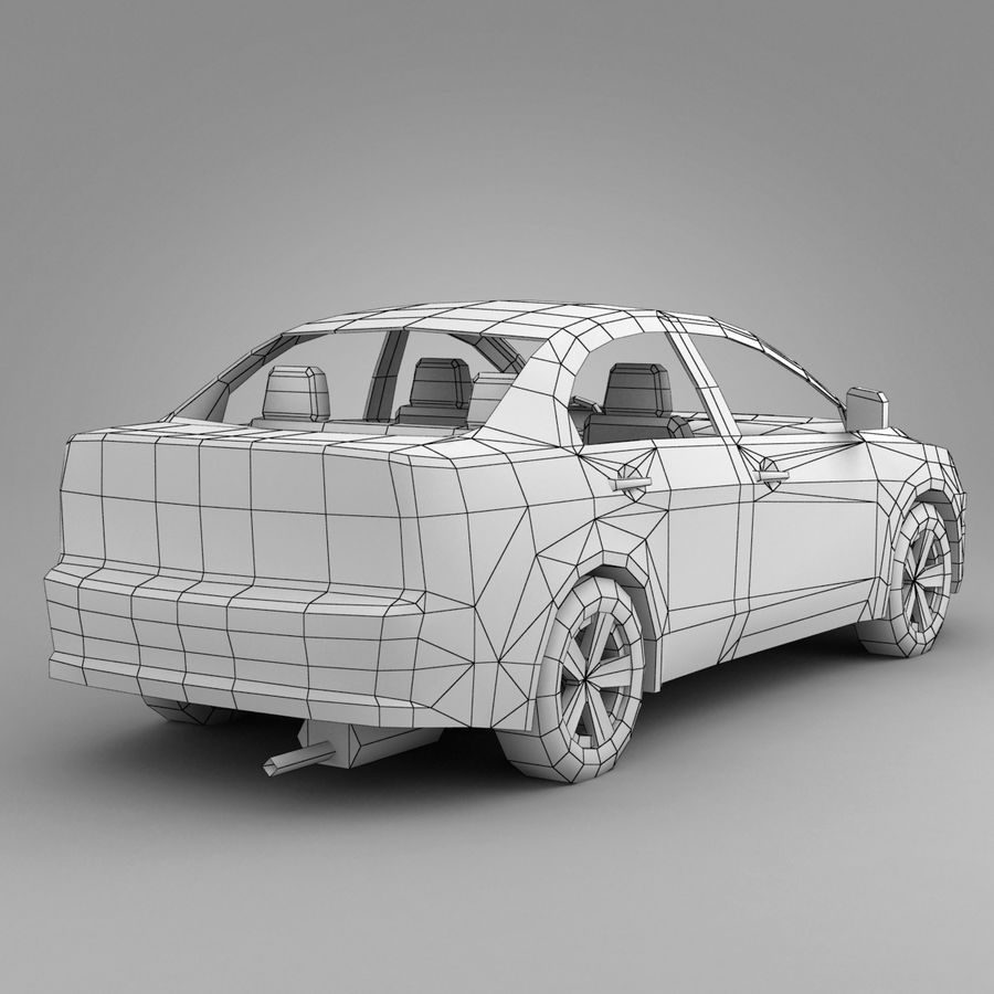 Rusty Car 2 royalty-free 3d model - Preview no. 5