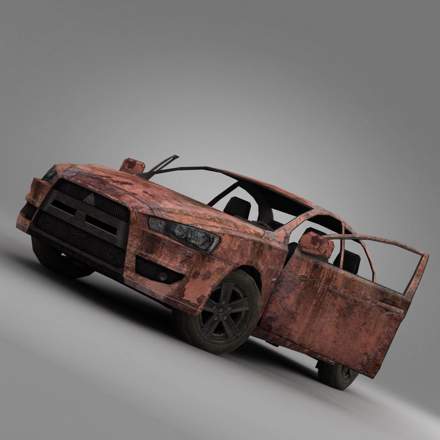 Rusty Car 2 royalty-free 3d model - Preview no. 6