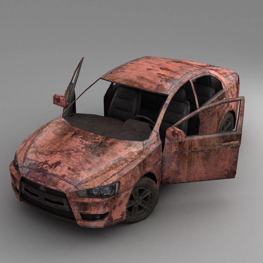 Rusty Car 2 royalty-free 3d model - Preview no. 7