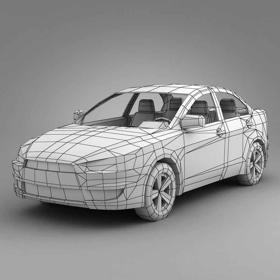 Rusty Car 2 royalty-free 3d model - Preview no. 3