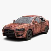 Rusty Car 2 3d model