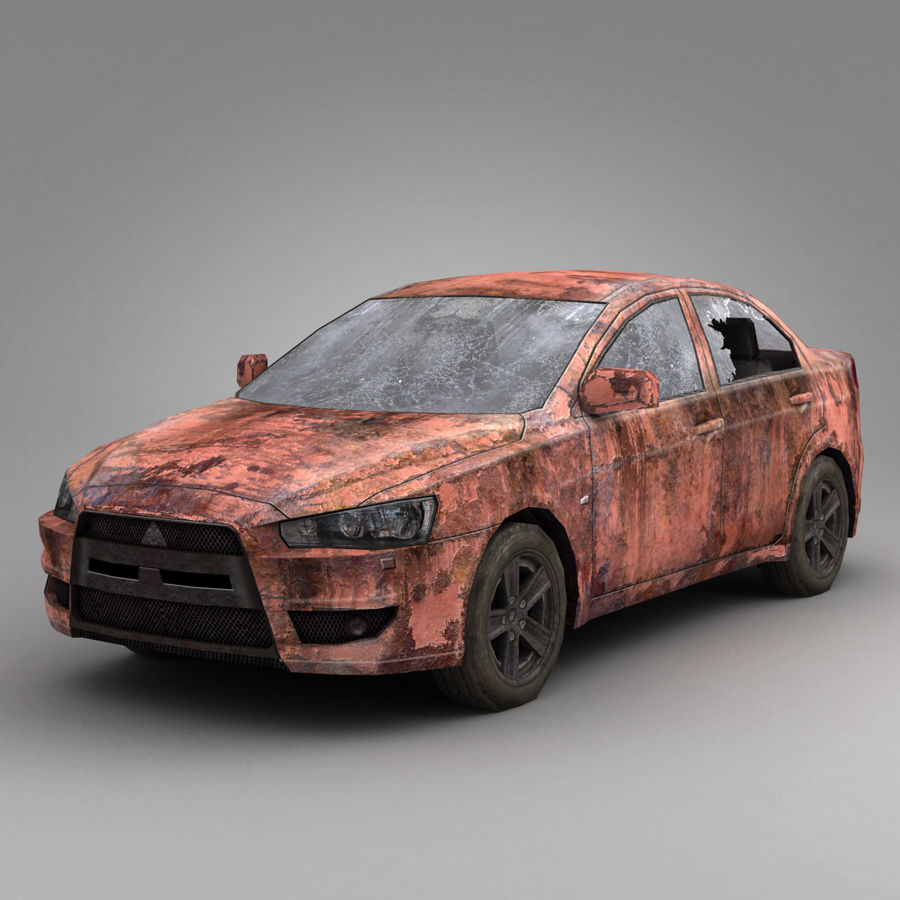 Rusty Car 2 royalty-free 3d model - Preview no. 2