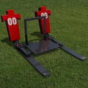Fotbollsträning Sled 3d model