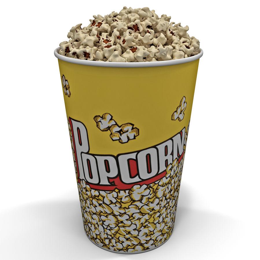 Popcorn Bowl royalty-free 3d model - Preview no. 2