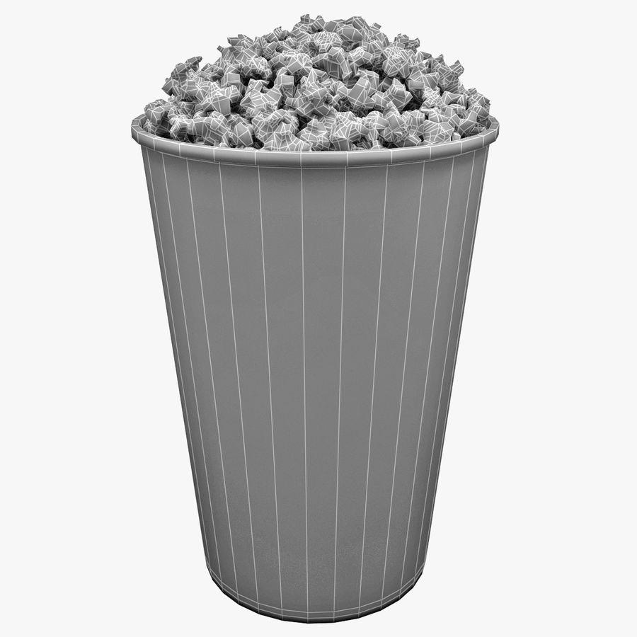 Popcorn Bowl royalty-free 3d model - Preview no. 5
