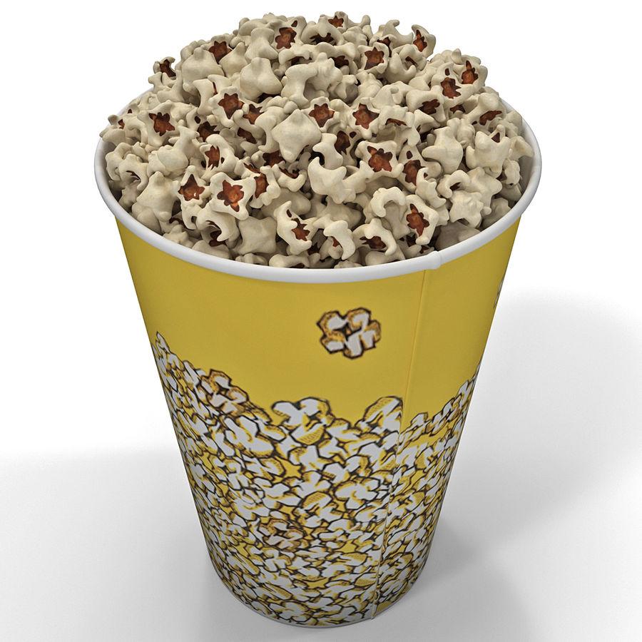 Popcorn Bowl royalty-free 3d model - Preview no. 4