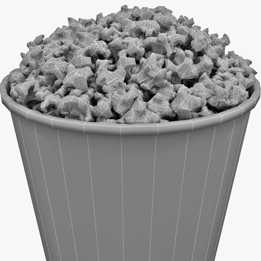 Popcorn Bowl royalty-free 3d model - Preview no. 6