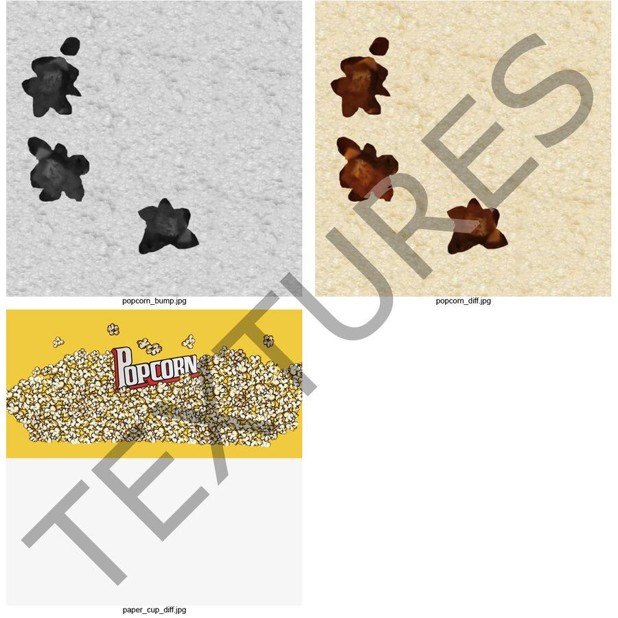 Popcorn Bowl royalty-free 3d model - Preview no. 8