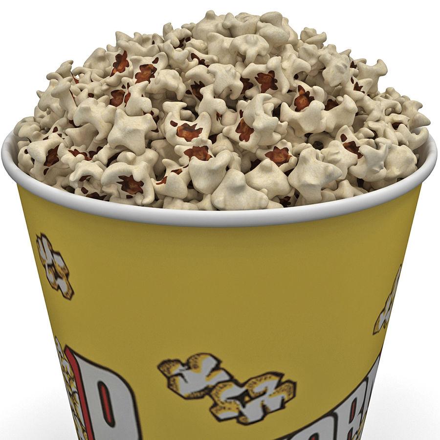 Popcorn Bowl royalty-free 3d model - Preview no. 3